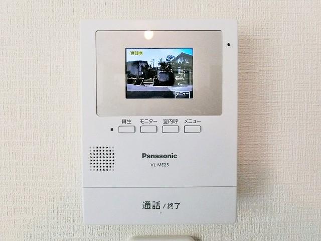 来客者を確認できるTVモニタ付インターフォン