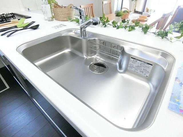 浄水器付き水栓だから野菜もお米も浄水で洗えますね