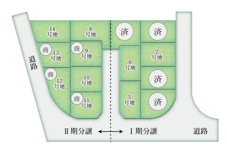 フロンティアガーデンズくずは 全14区画の大型分譲地