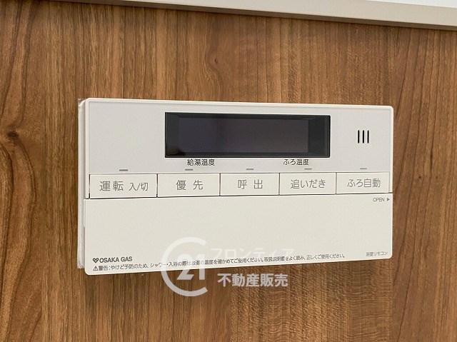 自動・追い焚き機能付き、ボタン1つでお風呂の準備も楽々